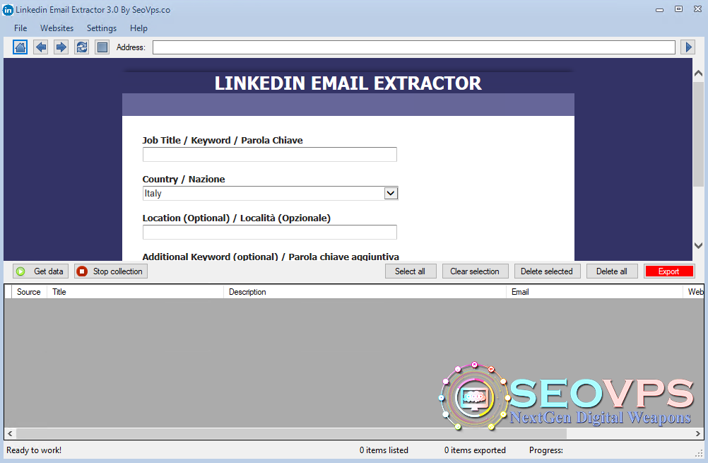 Linked-email-extractor
