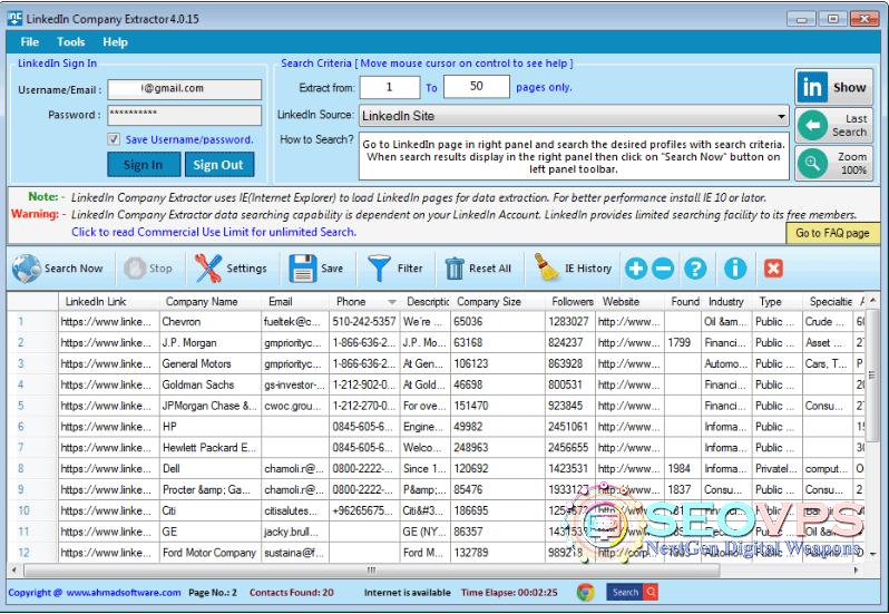 linkedin-company-extrator